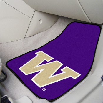 University of Washington Purple Carpet Car Mat, Set of 2