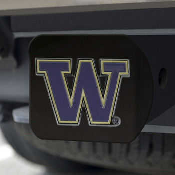 University of Washington Hitch Cover - Color on Black