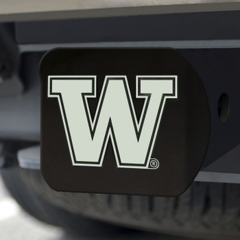 University of Washington Hitch Cover - Chrome on Black