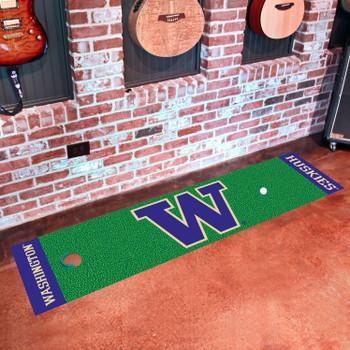 "18"" x 72"" University of Washington Putting Green Runner Mat"