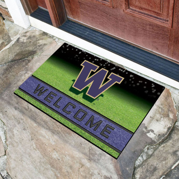 """18"""" x 30"""" University of Washington Crumb Rubber Door Mat"""