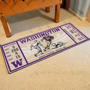 "30"" x 72"" University of Washington Ticket Rectangle Runner Mat"