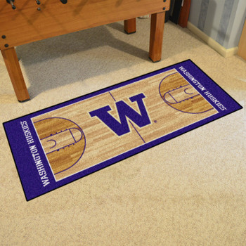 "30"" x 72"" University of Washington NCAA Basketball Rectangle Runner Mat"