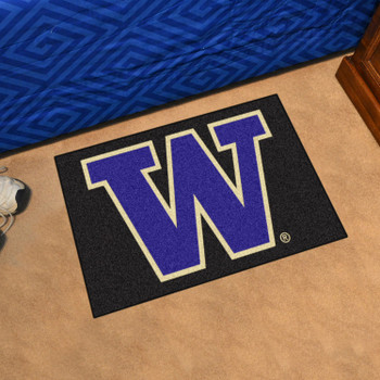 "19"" x 30"" University of Washington Black Rectangle Starter Mat"