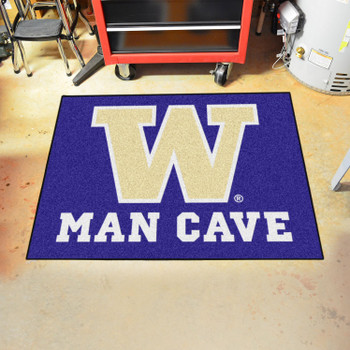"33.75"" x 42.5"" University of Washington Man Cave All-Star Purple Rectangle Mat"