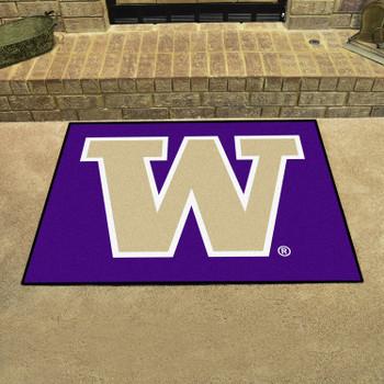 "33.75"" x 42.5"" University of Washington All Star Purple Rectangle Mat"