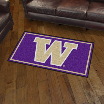 3' x 5' University of Washington Purple Rectangle Rug