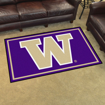 4' x 6' University of Washington Purple Rectangle Rug