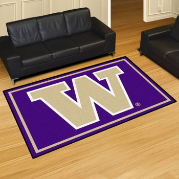 5' x 8' University of Washington Purple Rectangle Rug