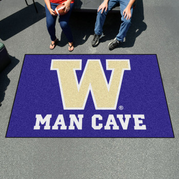 "59.5"" x 94.5"" University of Washington Man Cave Purple Rectangle Ulti Mat"
