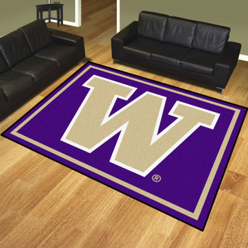8' x 10' University of Washington Purple Rectangle Rug