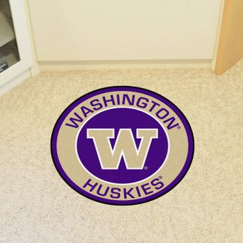 """27"""" University of Washington Roundel Round Mat"""
