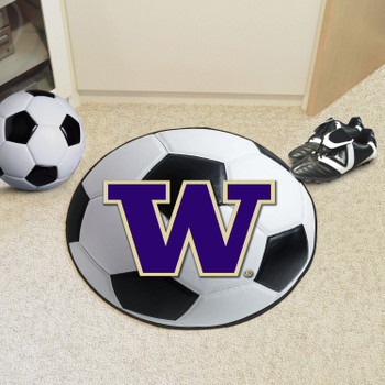 "27"" University of Washington Soccer Ball Round Mat"