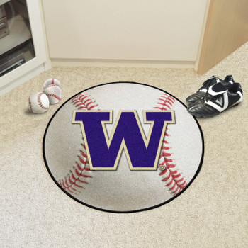 "27"" University of Washington Baseball Style Round Mat"