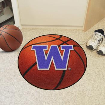 "27"" University of Washington Basketball Style Round Mat"