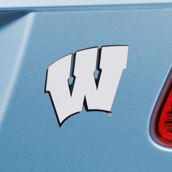 University of Wisconsin Chrome Emblem, Set of 2