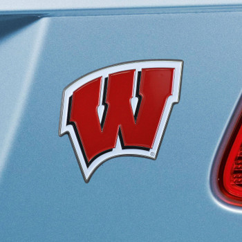 University of Wisconsin Red Color Emblem, Set of 2