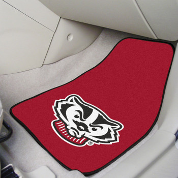 University of Wisconsin Carpet Car Mat, Set of 2