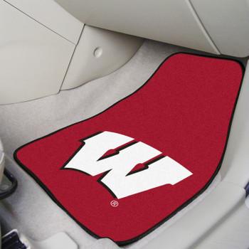 University of Wisconsin Ted Carpet Car Mat, Set of 2