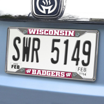 University of Wisconsin License Plate Frame