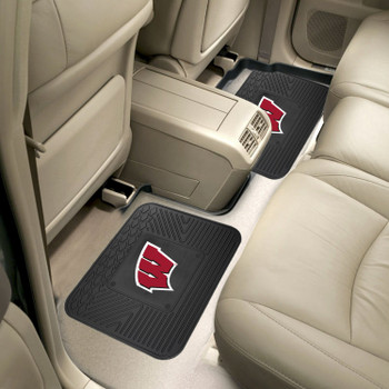 University of Wisconsin Heavy Duty Vinyl Car Utility Mats, Set of 2