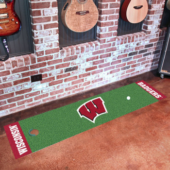 "18"" x 72"" University of Wisconsin Putting Green Runner Mat"