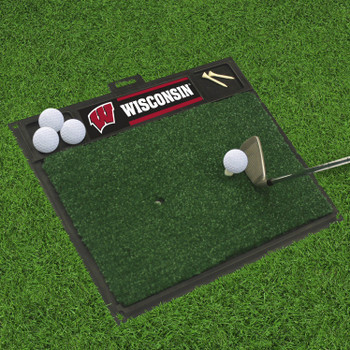 "20"" x 17"" University of Wisconsin Golf Hitting Mat"