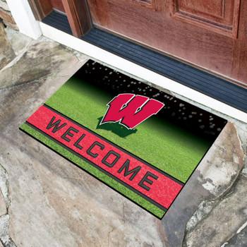"""18"""" x 30"""" University of Wisconsin Crumb Rubber Door Mat"""