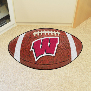 "20.5"" x 32.5"" University of Wisconsin Football Shape Mat"