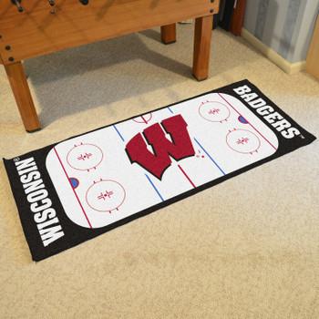 "30"" x 72"" University of Wisconsin Rink Runner Mat"