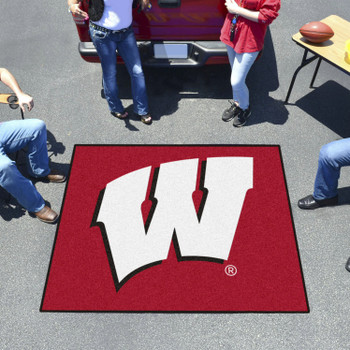 "59.5"" x 71"" University of Wisconsin Red Tailgater Mat"
