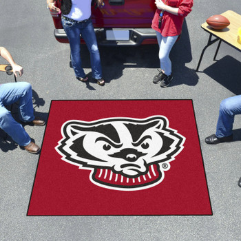 "59.5"" x 71"" University of Wisconsin Badgers Red Tailgater Mat"