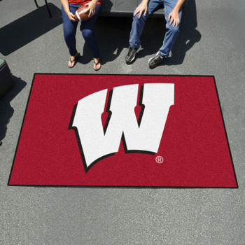 "59.5"" x 94.5"" University of Wisconsin Red Rectangle Ulti Mat"