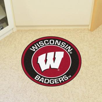 "27"" University of Wisconsin Roundel Round Mat"