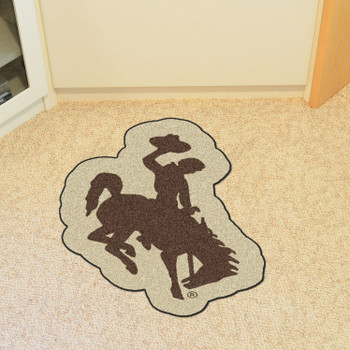 "University of Wyoming Mascot Mat - ""Bucking Cowboy"" Logo"