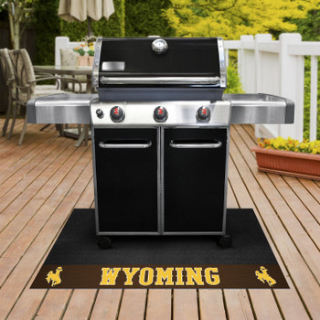 "26"" x 42"" University of Wyoming Grill Mat"