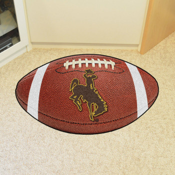 "20.5"" x 32.5"" University of Wyoming Cowboys Football Shape Mat"
