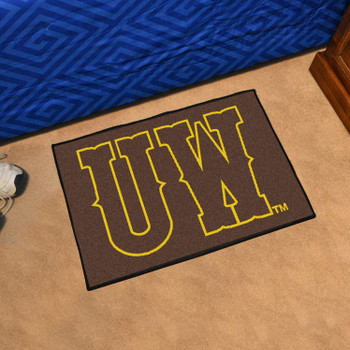 "19"" x 30"" University of Wyoming Brown Rectangle Starter Mat"