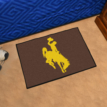 "19"" x 30"" University of Wyoming Cowboys Brown Rectangle Starter Mat"
