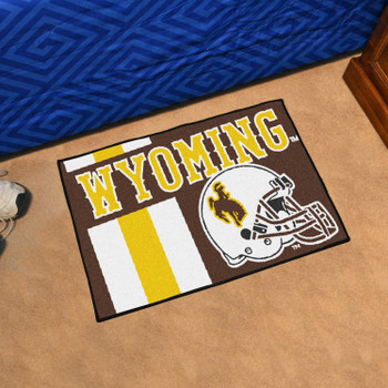 "19"" x 30"" University of Wyoming Uniform Brown Rectangle Starter Mat"