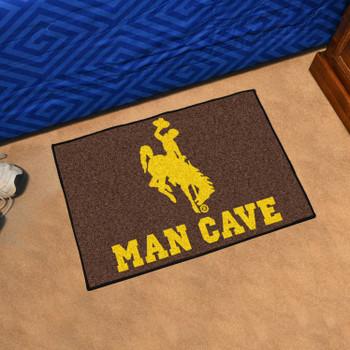 "19"" x 30"" University of Wyoming Man Cave Starter Brown Rectangle Mat"