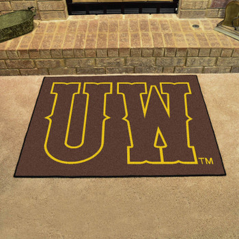 "33.75"" x 42.5"" University of Wyoming All Star Brown Rectangle Mat"