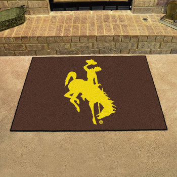 "33.75"" x 42.5"" University of Wyoming Cowboys All Star Brown Rectangle Mat"