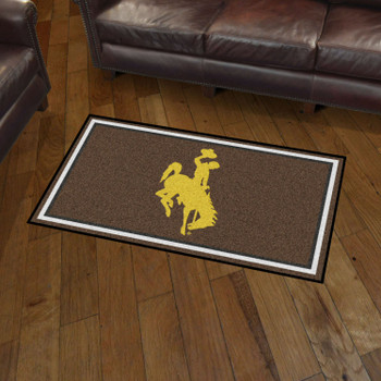 3' x 5' University of Wyoming Brown Rectangle Rug