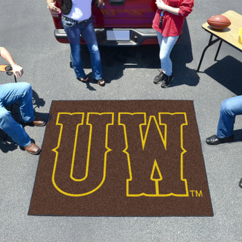 "59.5"" x 71"" University of Wyoming Brown Tailgater Mat"