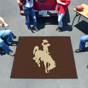 "59.5"" x 71"" University of Wyoming Cowboys Brown Tailgater Mat"