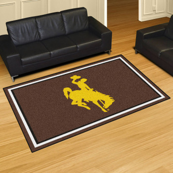 5' x 8' University of Wyoming Brown Rectangle Rug