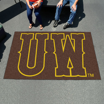 "59.5"" x 94.5"" University of Wyoming Brown Rectangle Ulti Mat"