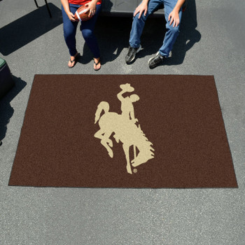 "59.5"" x 94.5"" University of Wyoming Cowboys Brown Rectangle Ulti Mat"