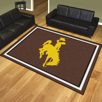 8' x 10' University of Wyoming Brown Rectangle Rug